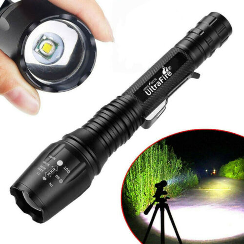 6x Tactical 18650 Aluminum Flashlight  High Powered 5Modes Zoomable Torch  US