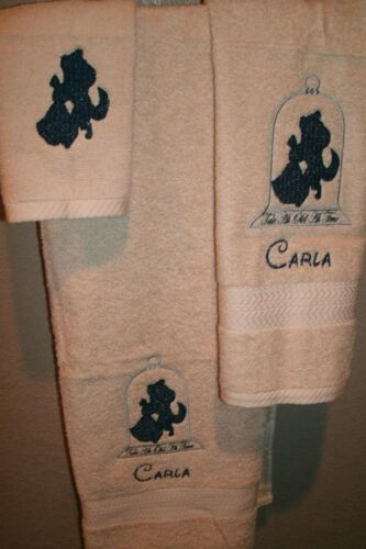 Beauty /& Beast Dancing Personalized 3 Piece Bath Towel Set