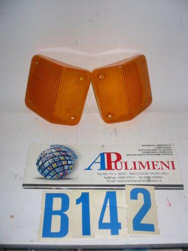 COPPIA TRASPARENTE//PLASTICA//FANALINO ANTERIORE IVECO190 TURBO