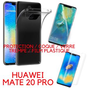 Protection Au Choix Pour Huawei Mate 20 Pro / Coque / Verre Trempe / Plastique