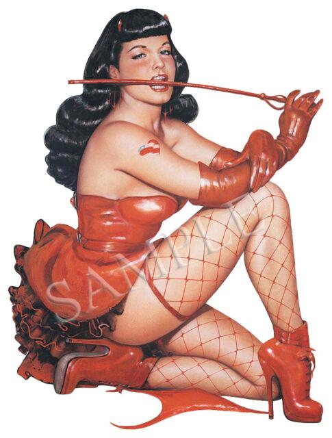 BETTIE PAGE SEXY PIN UP GIRL RETRO WINDOW,WINDSCREEN VINYL STICKER U.K POST ONLY