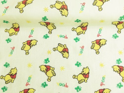 Vintage PolyCotton Fabric WINNIE THE POO Cream Nursery Baby Reduced Price NEW