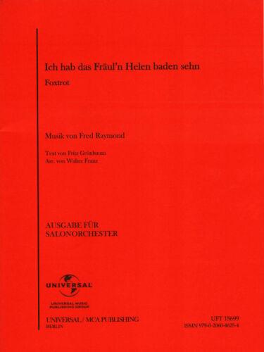 Arr. Ich hab das Fräul/'n Helen baden sehn Noten Combo Salonorchester Martin Uhl
