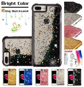 Apple-iPod-Touch-6-5th-Gen-Hybrid-Bling-Glitter-Protective-Rubber-Case-Cover-Pad