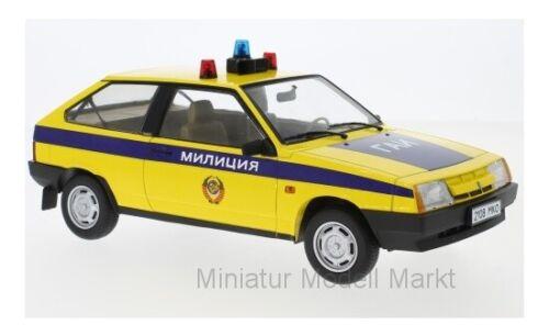 Polizei SU #180216 gelb//blau Milizija KK-Scale Lada Samara 1984-1:18