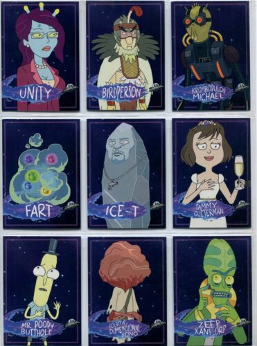 Rick /& Morty Season 2 Complete Characters Chase Card Set C1-12