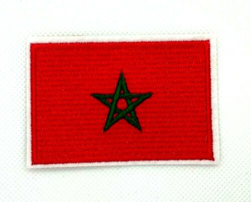 FLAG PATCH PATCHES MOROCCO IRON ON EMBROIDERED SMALL   281