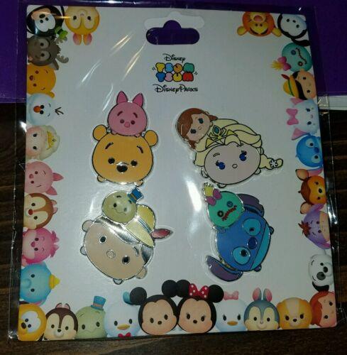 Disney Pins Tsum Tsum Booster Elsa Anna Pooh Piglet Stitch Set Free Ship
