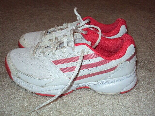 Womens Too Cute White & Hot Pink Adidas Causal/Athletic Shoes Size 8.5/ Gifts