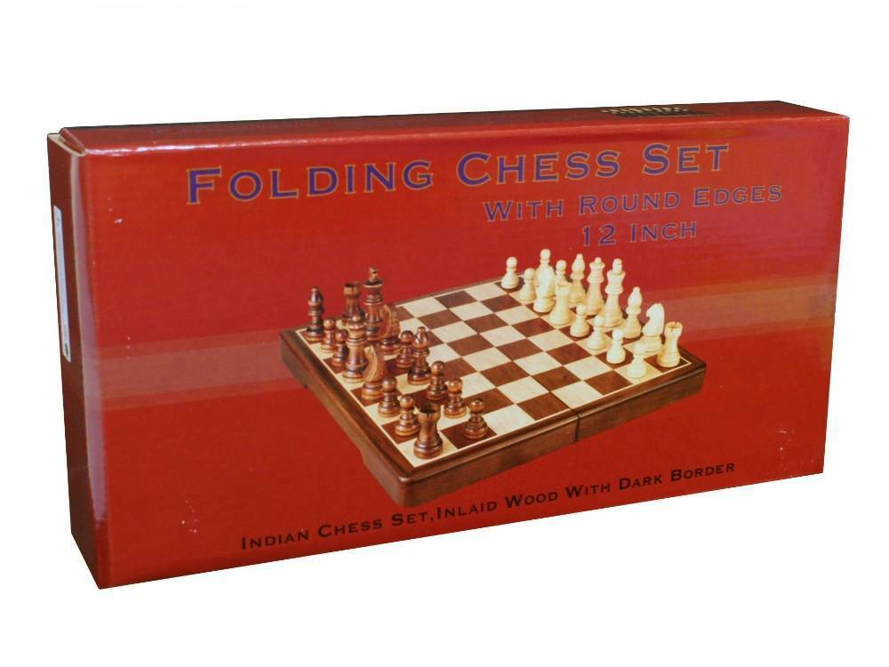 QUALITY CHESS SET 12  FOLD ROUND EDGE Family Board Game Gift CLEARANCE