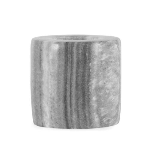 Kerzenhalter Marmor Grau // Windlicht Teelichthalter Set 2 tlg Zylinder