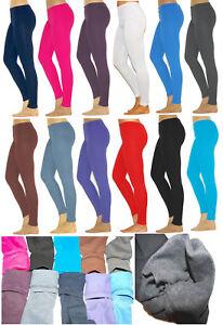 Bambini-Thermo-Ragazza-Leggings-Legging-Pantaloni-Lunghi-in-Cotone-Fodera-in-Pile