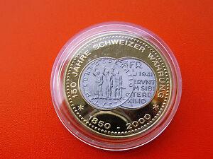 Münzemedaille 150 Jahre Schweizer Währung Ppfarbenopl 5 Fr