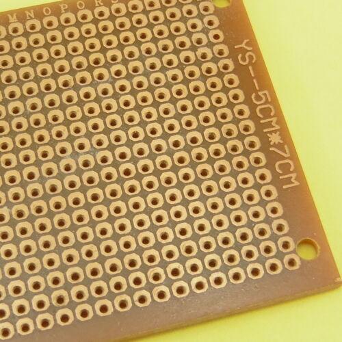 Placa de circuito universal de soldar 5x7cm Papel De Baquelita prototipo de prueba PCB N262