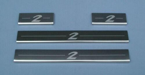 MAZDA 2 acier inoxydable poli coup plaques frottement gardes protecteurs rebord de porte