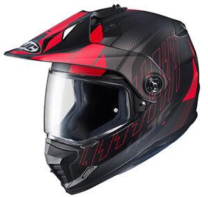 HJC DS-X1 Gravity Helmet Size Lg Semi Flat Red
