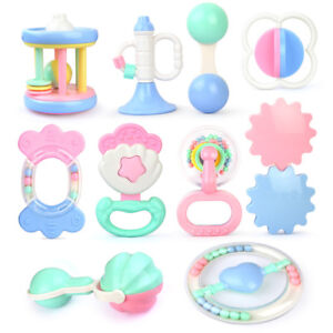 Baby-Kids-Toddler-Teether-Hand-Shake-Bell-Ring-Funny-Educational-Toys-A
