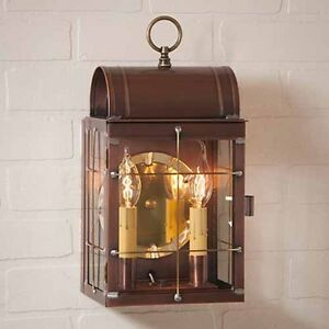 Outdoor Copper Wall Lantern in Solid Copper Toll House Exterior ...