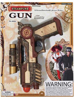 Adult Futuristic Steam Punk Toy Plastic Hand Gun Fancy Dress Military Weapon