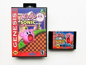Kirby-in-Sonic-the-Hedgehog-Game-Case-Fan-Made-Mod-Sega-Genesis-USA-Seller