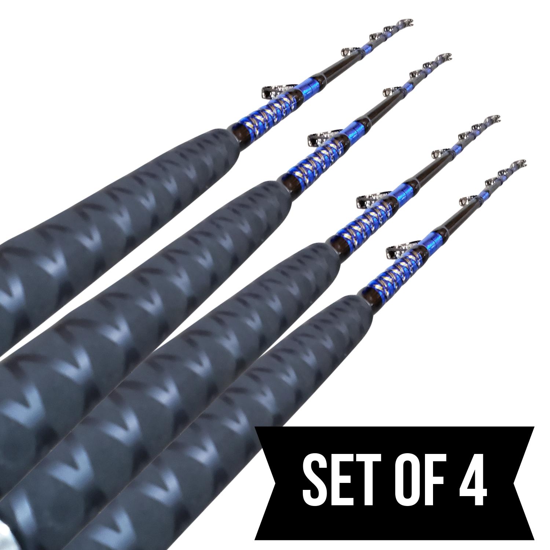 Set of 4   50  80lb Solid Roller pesca asta  5'6   Coastal pesca