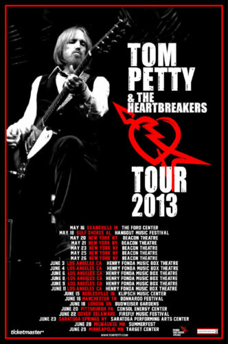Tom Petty 2017 box office CONCERT POSTER North America  joe walsh