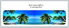 30 Personalized Return Address Labels Beach Palm Trees Buy 3 get 1 free (c 748)