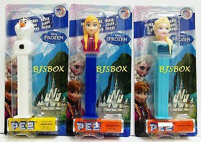 PEZ Dispensers Disney Frozen Anna Elsa Olaf 3 Lot Set with Candy New Toys