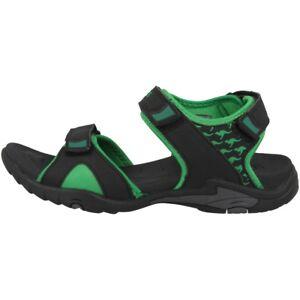 Kangaroos-inclas-Sandalias-Zapatos-Informales-Black-Green-16025-508