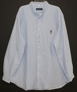 Polo-Ralph-Lauren-Big-and-Tall-Mens-Blue-Bear-Oxford-Button-Front-Shirt-NWT-XLT