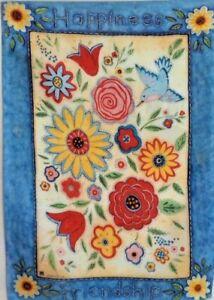 """Friendship Quilt Garden Flag by Breeze Art 12""""x18"""", #4479 Welcome"""