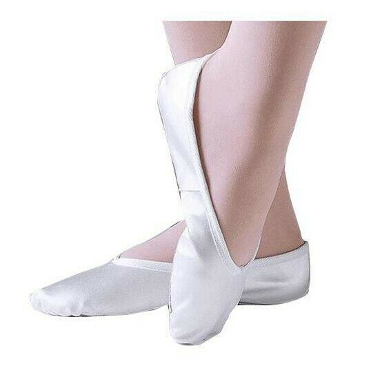 Tappers&Pointers White satin ballet shoes Size 6 UK Older Child New small fitt