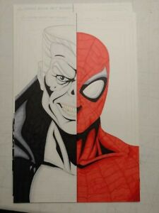Spiderman and Tombstone 11x17 original art by Chris Moore