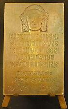 Médaille Charles Moncharmont directeur du Théâtre des Célestins Lyon 1937 medal