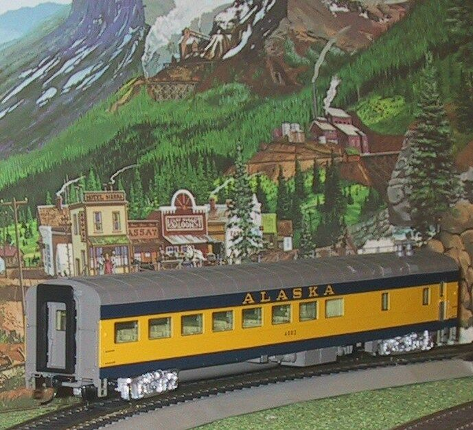 PredO 12700 ALASKA RAIL ROAD AC&F CAFE LOUNGE (1971 scheme) w LIGHTS NIB