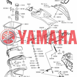 Yamaha OEM Part JN6-F1435-10-0<wbr/>0 BRACKET, MUFLER 2