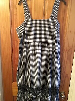 M/&S Ladies Sleevless Blue Mix Pattern SUMMER Dress Size 18 Bnwt