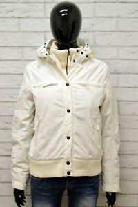 Piumino-SCHOTT-Donna-Taglia-Size-M-Giubbotto-Giacca-Giubbino-Jacket-Woman-Bianco