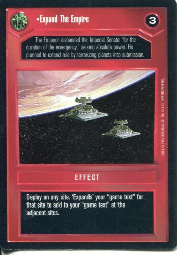Star Wars CCG Premiere Black Border Expand The Empire
