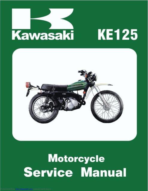 Kawasaki Ke125 Ke 125 A6 1978 1979 Owners Manual For Sale Online Ebay