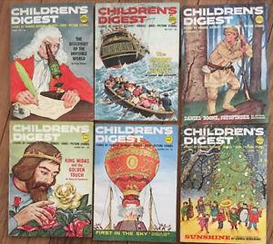 Children's Digest Magazine 1962 Lot Of 6 Jan, May, Sept, Oct, Nov. Dec. Issues