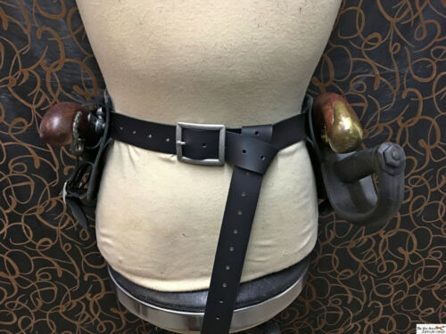 Pirate Pirate leather belt flintlock pistol holster with scabbard cosplay,LARP