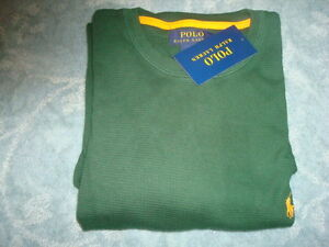 POLO-RALPH-LAUREN-LONG-SLEEVE-GREEN-TOP-SIZE-M