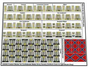 Custom-Pre-Cut-Stickers-for-Lego-US-Civil-War-Confederate-States-Army-Cavalry