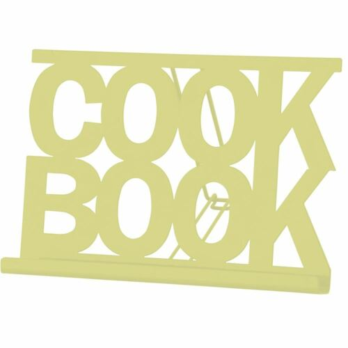 Cook Book Stand Cream Enamel Kitchen Recipe Cooking Display Rest Stand Holder