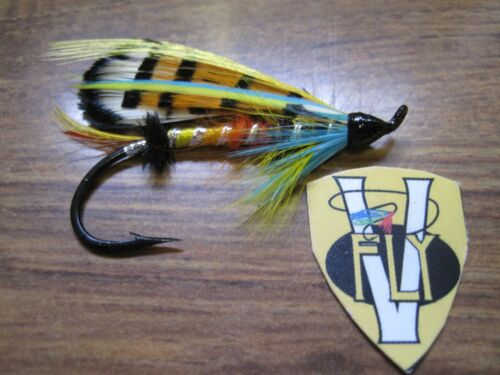 1 V Fly Size 20 Classic Fully Dressed Durham Ranger Single Salmon Fly