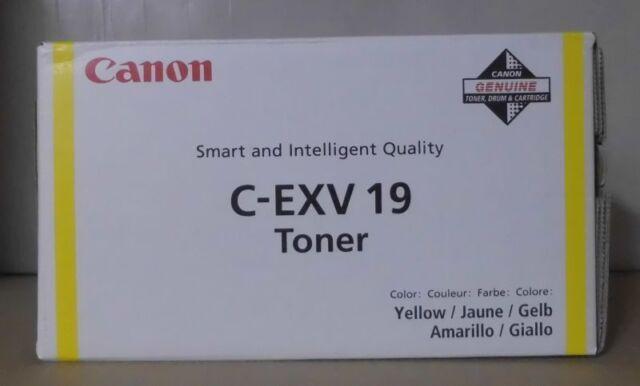 Canon C-EXV 19 Toner yellow   imagepress C1 C1Plus C1PlusII IP C1  C1Pplus OVP A