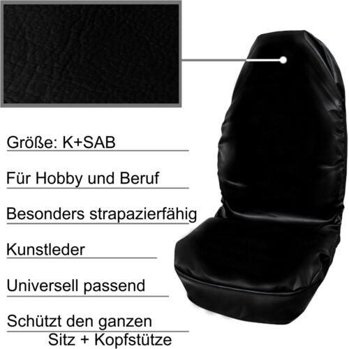 SAB KUNSTLEDER Sitzbezug Schonbezug Sitzschoner PETEX Auto Werkstattschoner