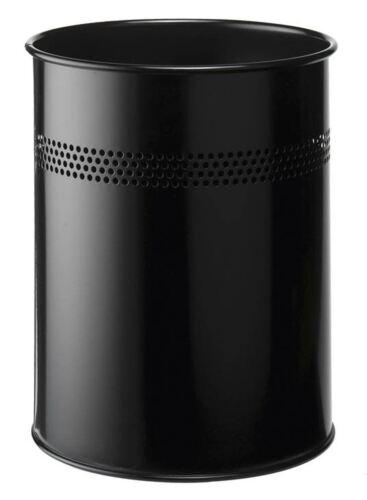 30mm Perforated Ring Black 15L Durable 330001Metal Office Waste Bin//Basket