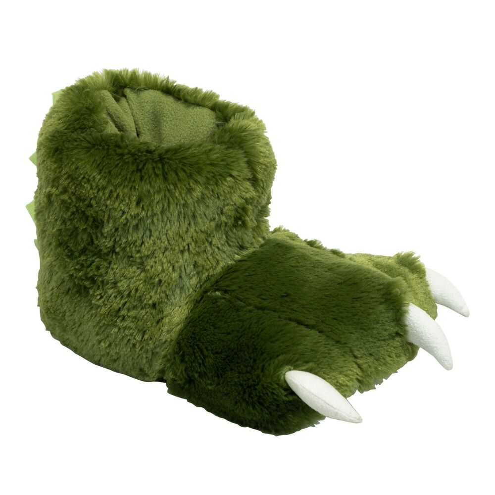 Lazyone Vert Dino Paw Slippers